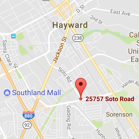 Hayward Map